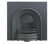 Plain Arched Cast-iron Fireplace Insert Black